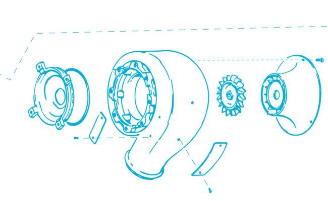 Cooling Turbine aircraft parts repair - C-130 P3